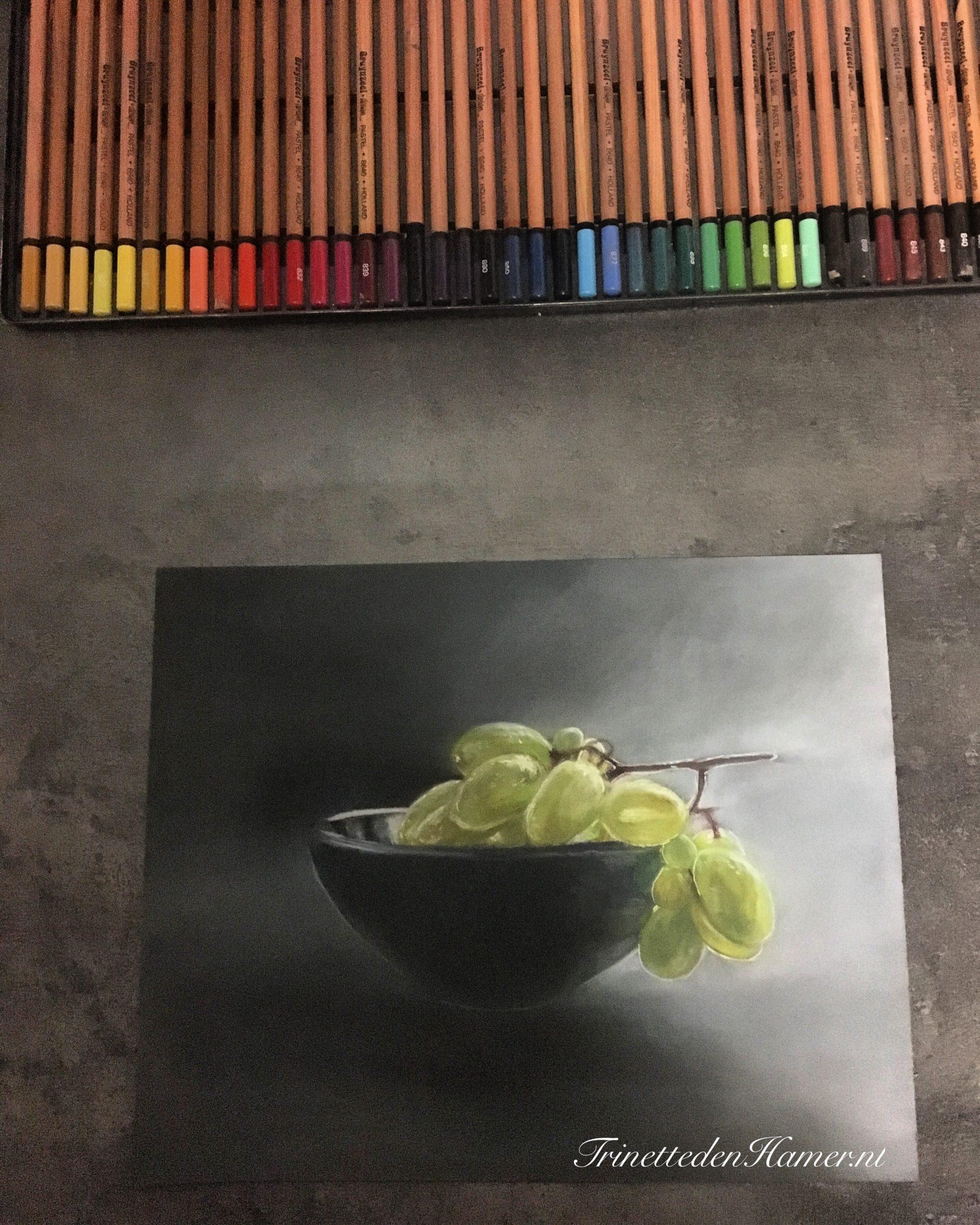 Druiven in pastel